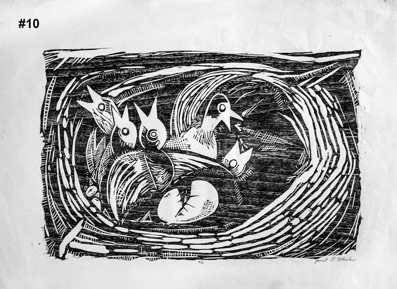 """#10 Woodcut Print15.5""""H x 22""""W 4/6"""