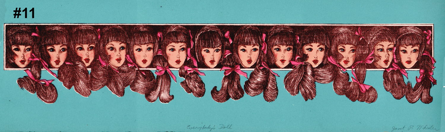 """#11 Everybody's Doll - Litho Serigraph - 5""""H x 18""""W"""