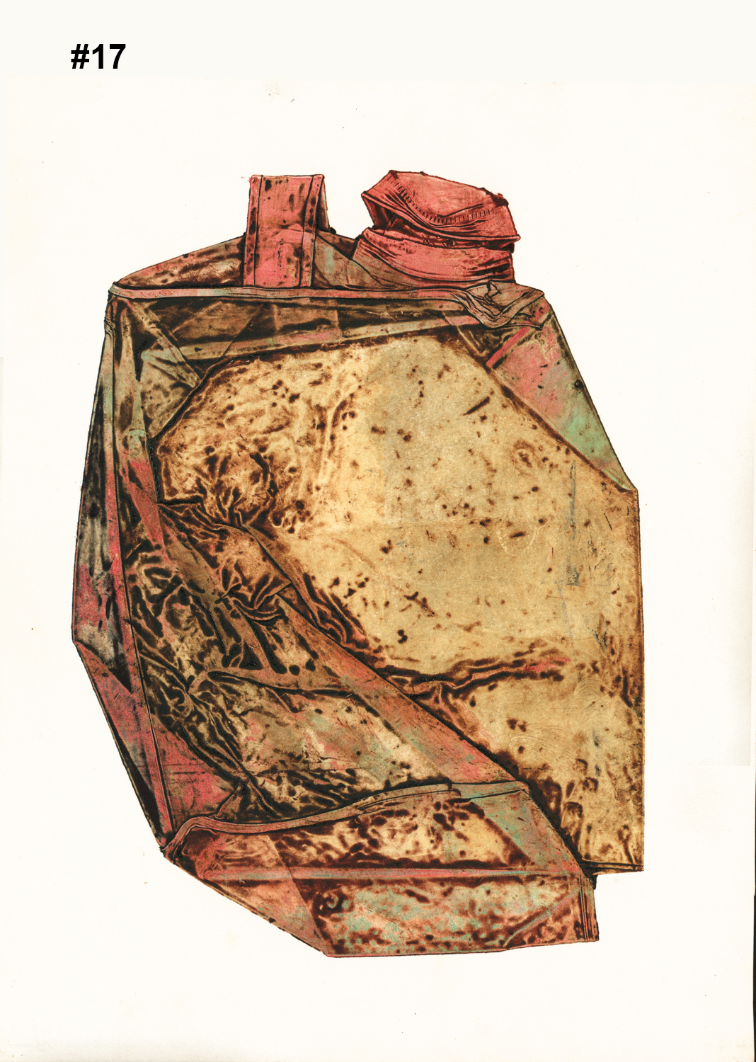"""#17 Untitled (Gas Can) - Collagraph - 16""""H x 12.5""""W"""