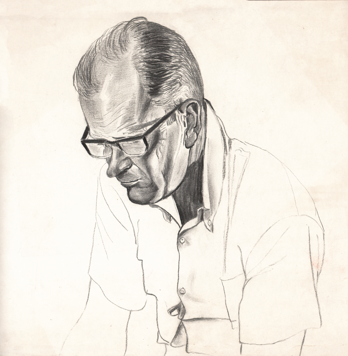 Untitled (Dick Pensive Large) - Pencil Drawing - 15