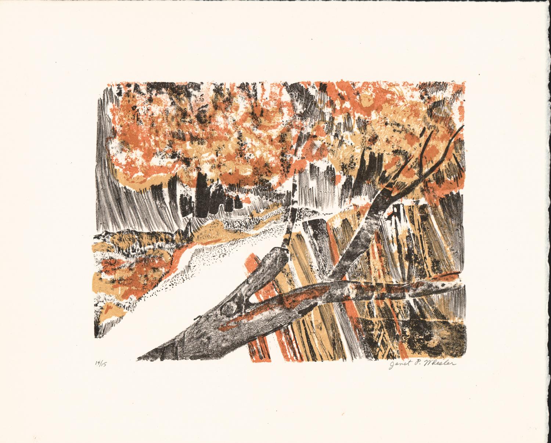 Untitled (Autumn Landscape) - Litho Serigraph - 11