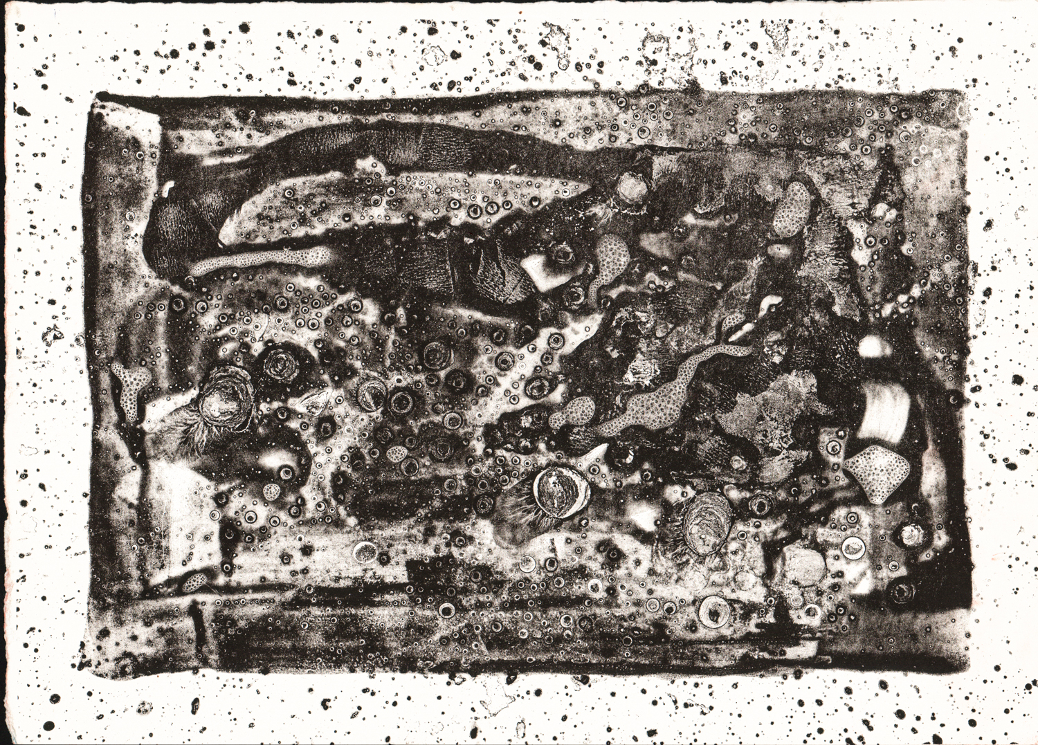 Untitled (Black Abstract) - Lithograph? - 10