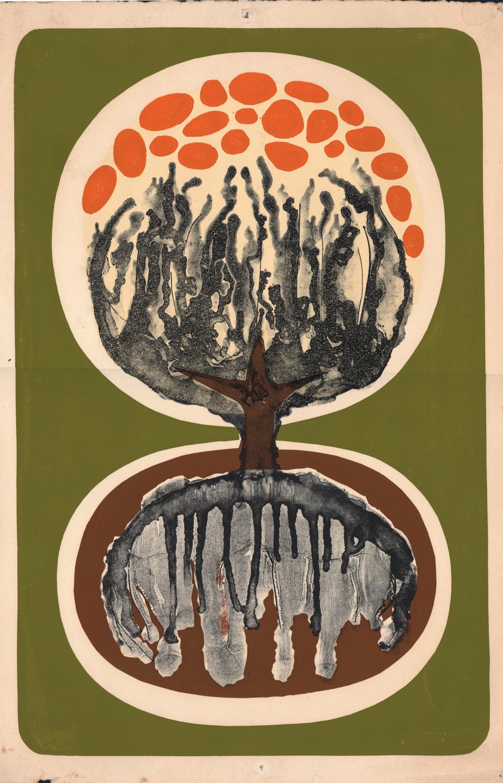 Untitled (Tree Motif) - Screen Print? - 22