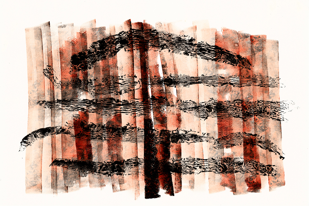 Queenscliff Collagraph 7 SOLD